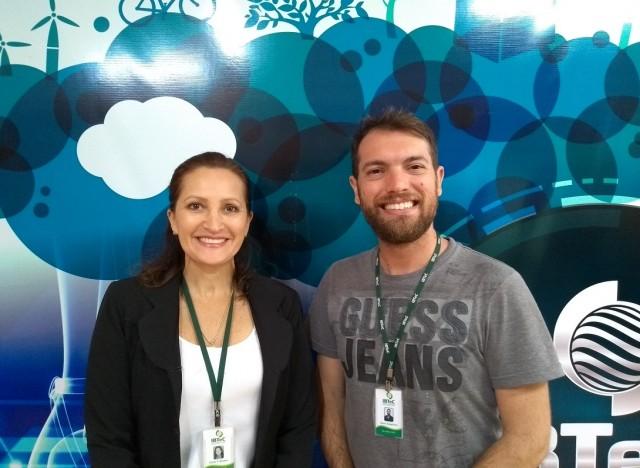 A Gerente Comercial, Karin Becker e o Gestor de Inovação, Deivis Gonçalves estarão à frente do estande do IBTeC na feira