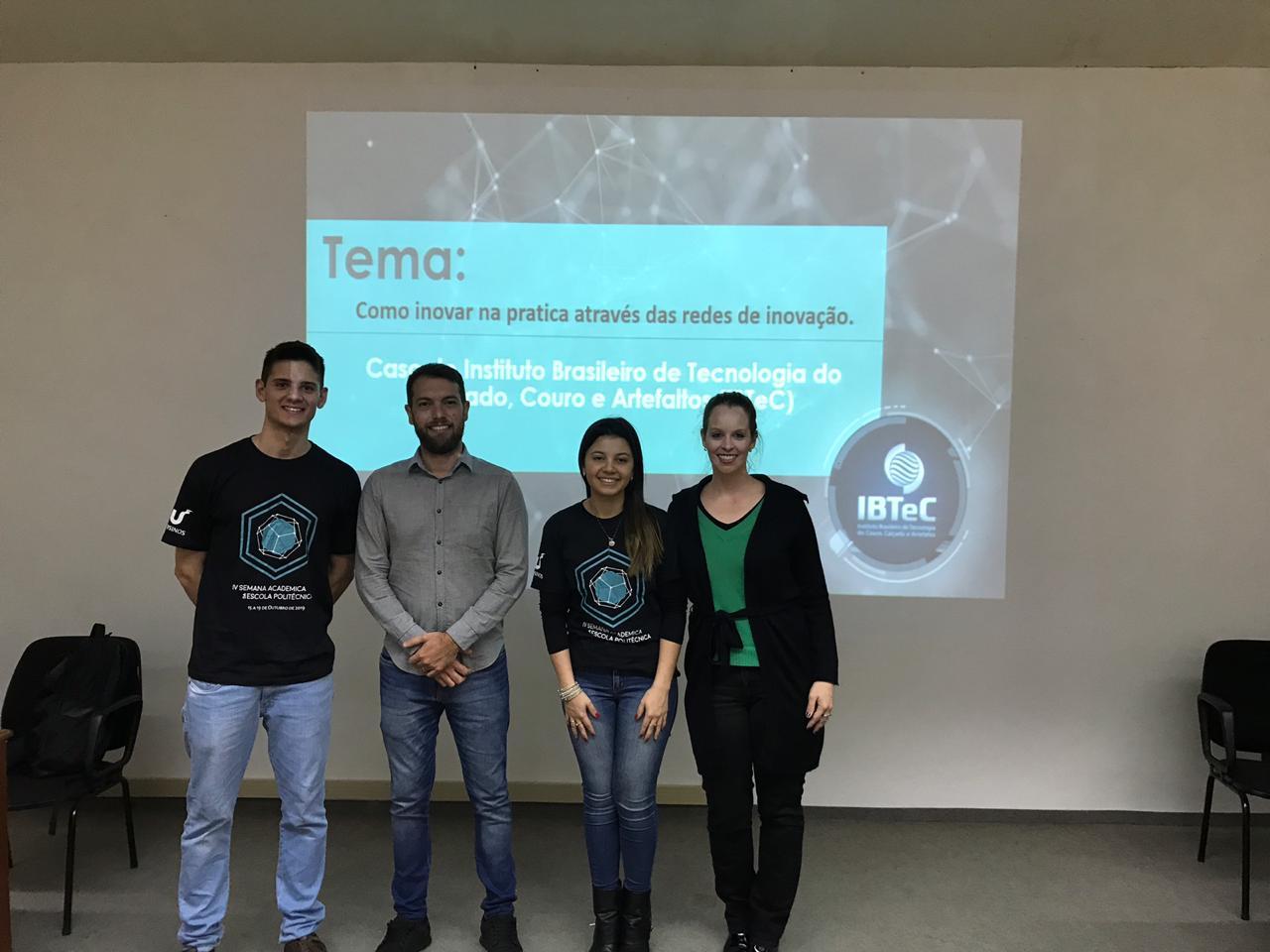 IBTeC apresentou seu case de inovação na Semana Acadêmica da Escola Politécnica da Unisinos