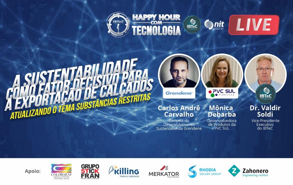 As substâncias restritas e as exportações de calçados serão tema do Happy Hour com Tecnologia do IBTeC na próxima quarta-feira