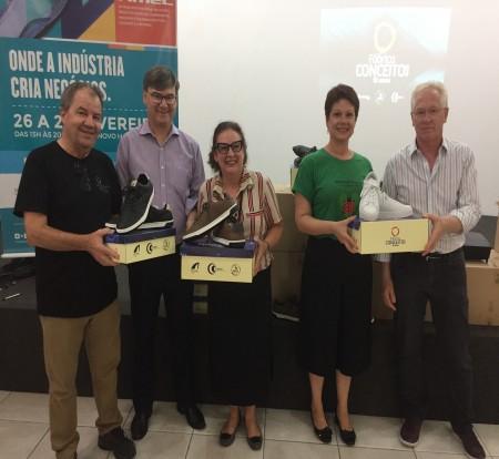Calçados produzidos na Fimec 2019 são doados para instituições sociais