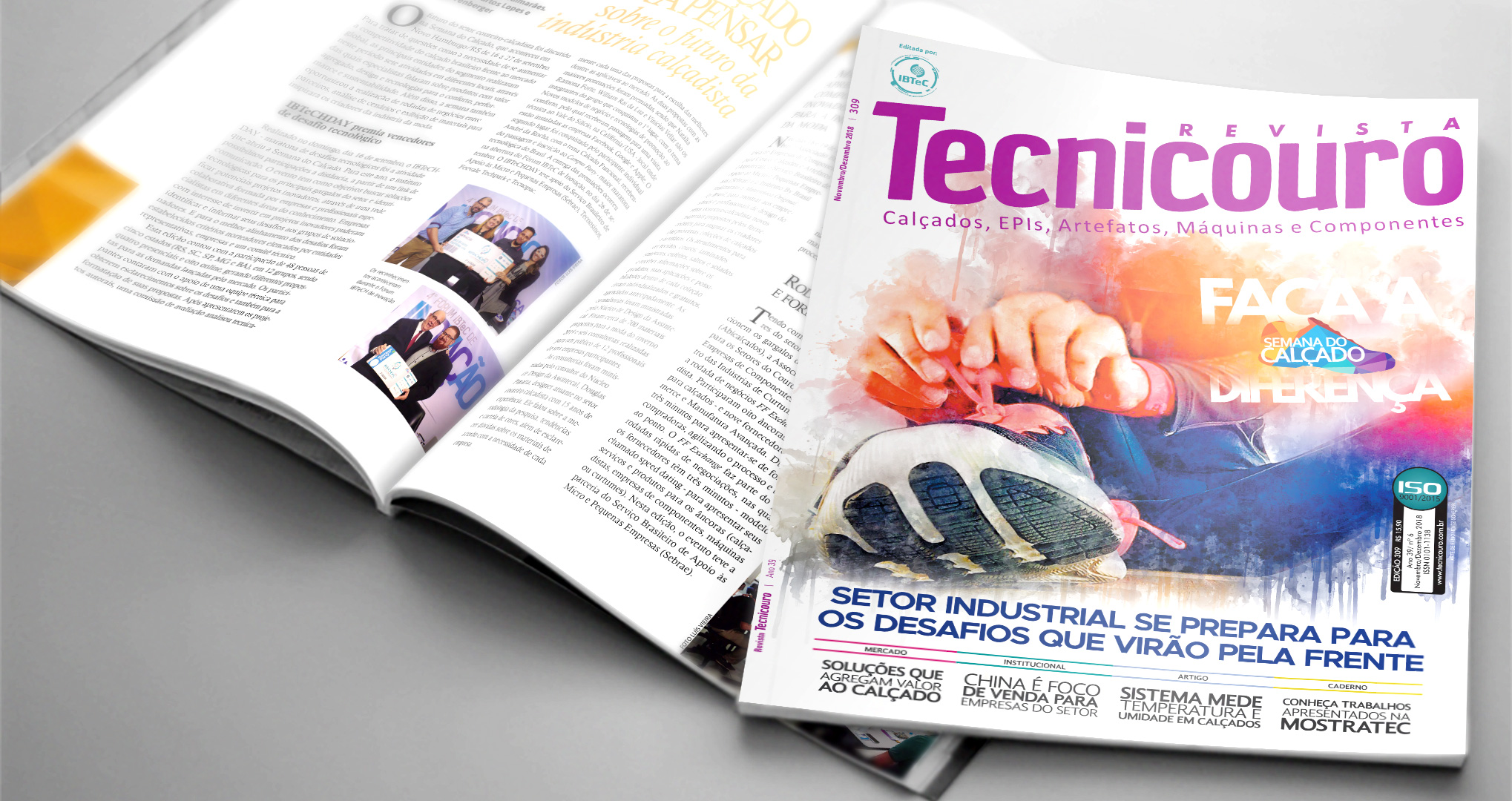 Edição de novembro/dezembro da Tecnicouro é lançada na Zero Grau