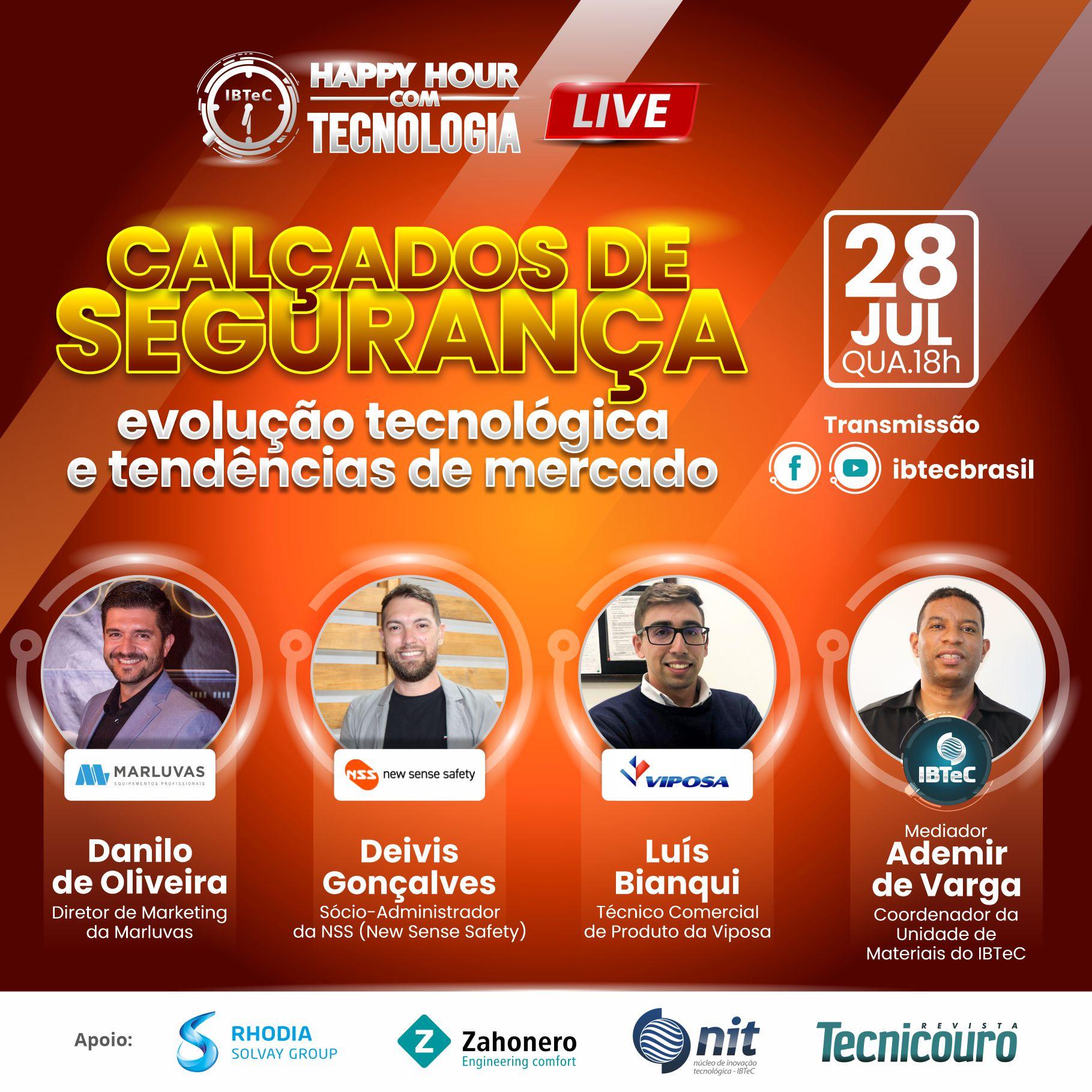 LIVE! Calçados de Segurança: Evolução tecnológica e tendências de mercado