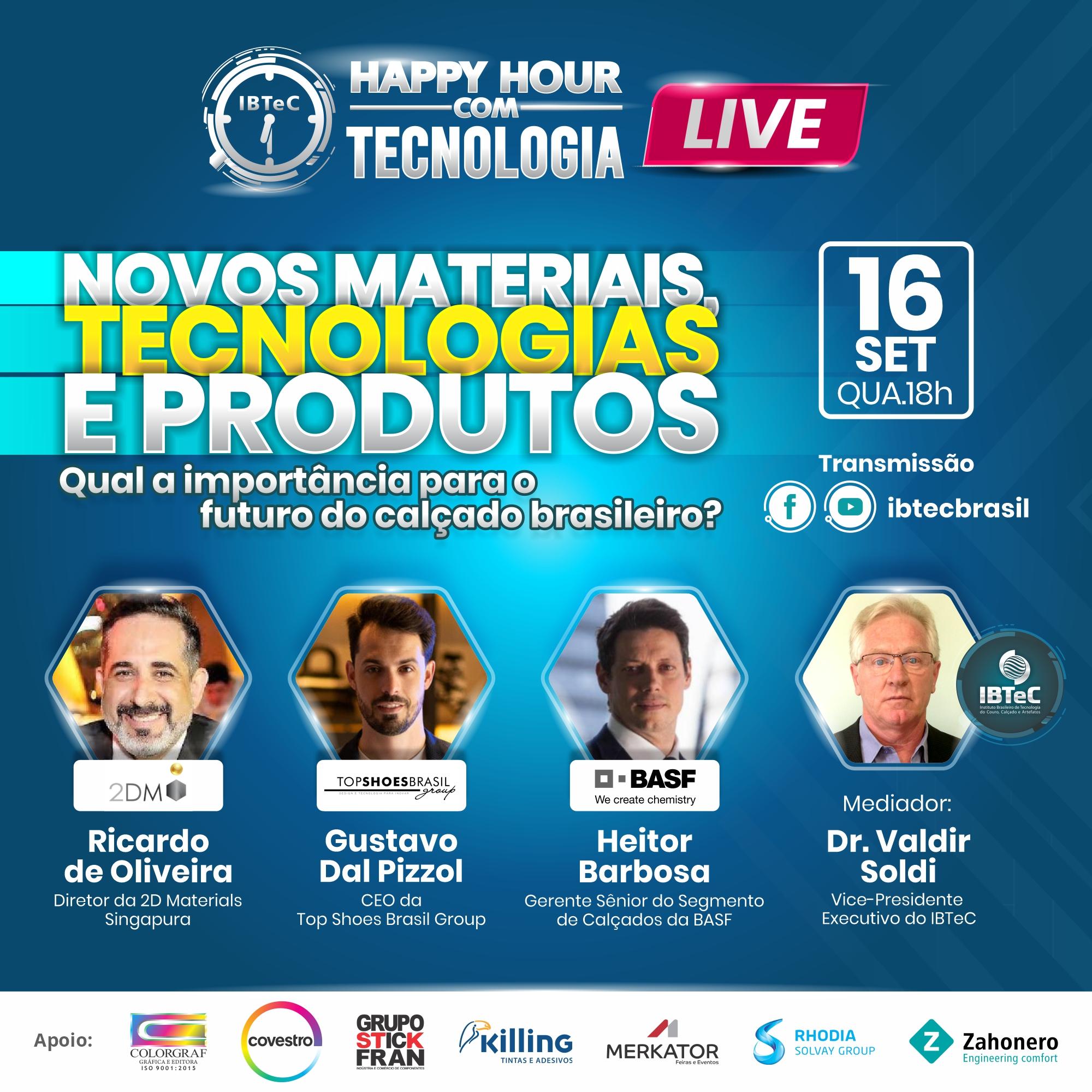 LIVE! Novos materiais, tecnologias e produtos: Qual a importância para o futuro do calçado brasileiro?