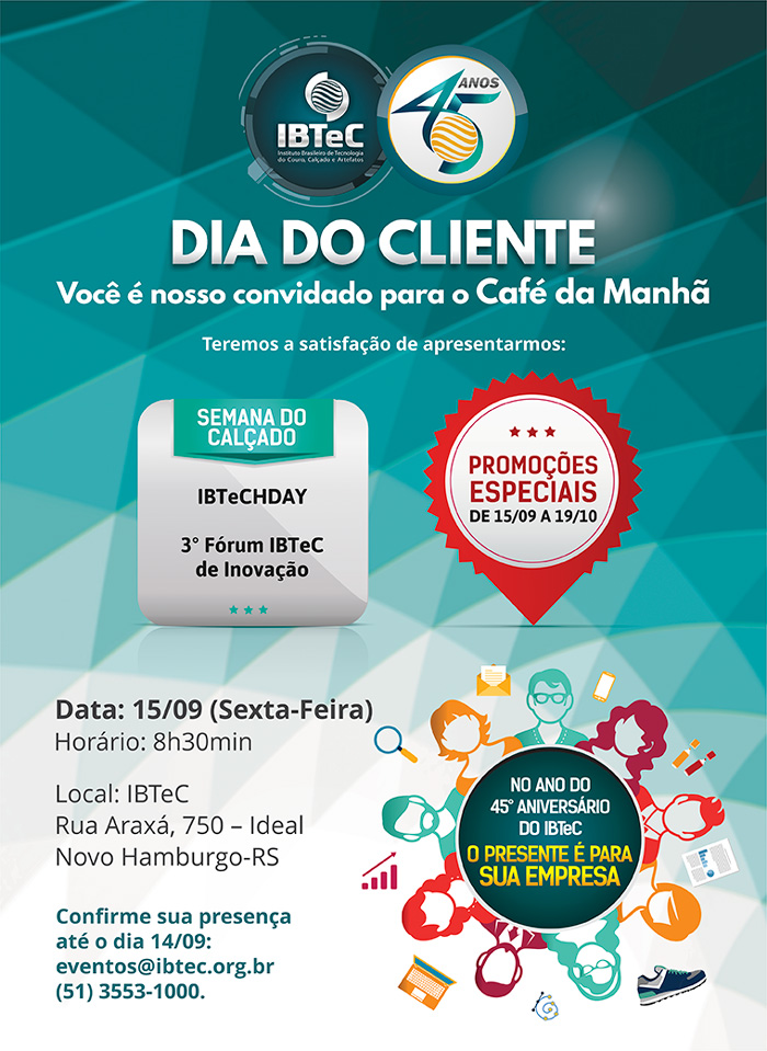 Café da Manhã - Dia do Cliente IBTeC