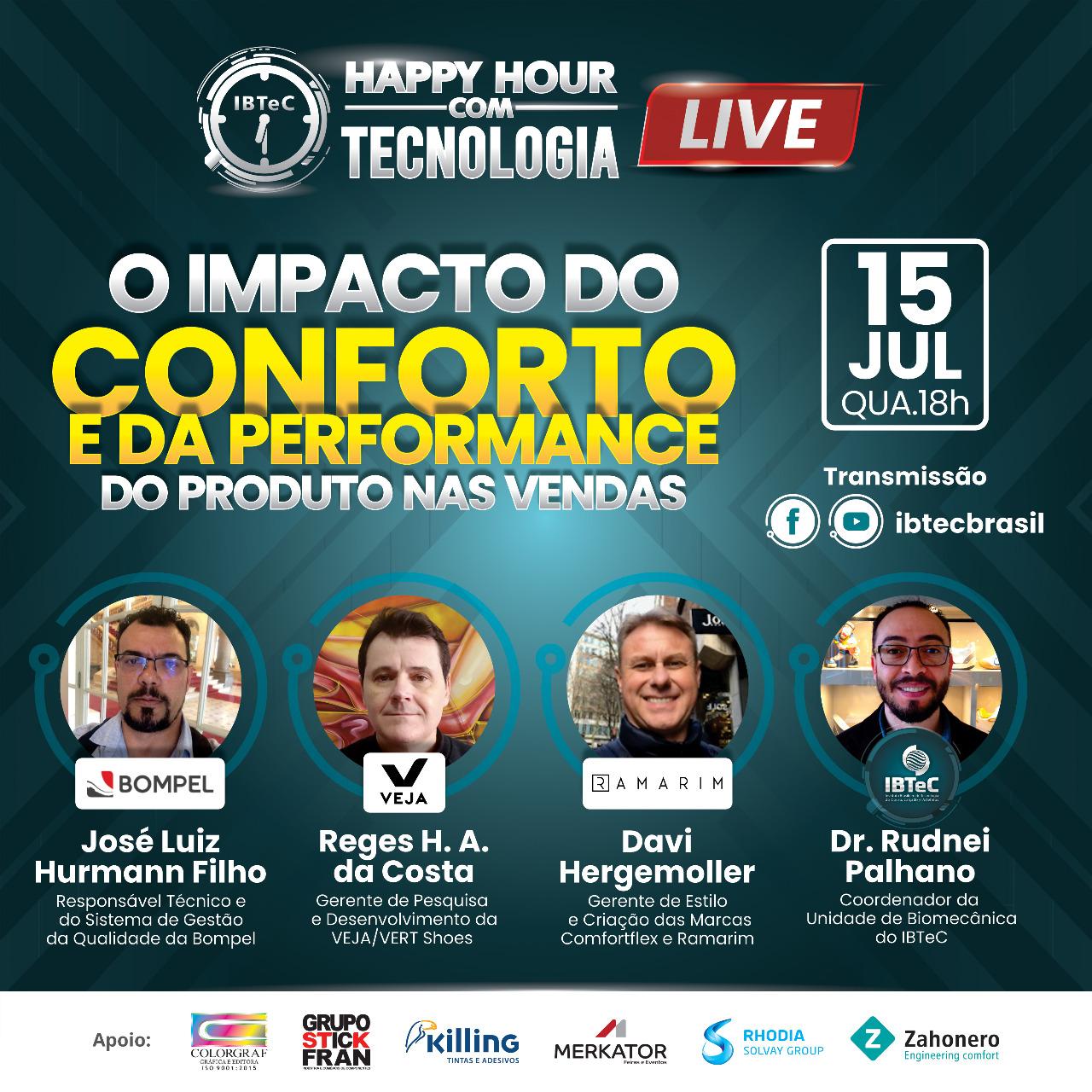 LIVE! O impacto do conforto e da performance do produto nas vendas - 15/07 (4ª feira) / 18h